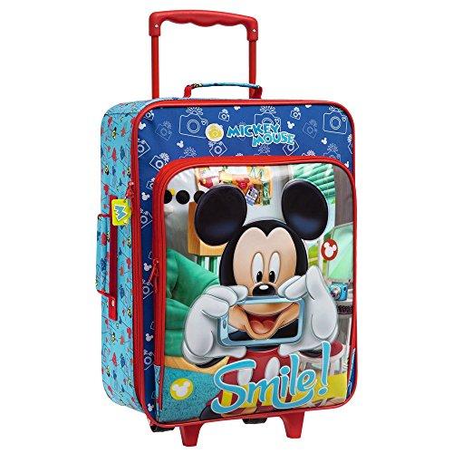 Disney 2429051 Mickey Smile Bagaglio a Mano, Poliestere, Blu, 50 cm