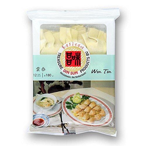 Wan Tan - Gyoza Teigtaschen mit Schweinefleisch/ Shrimps, TK, 3x180 g, 36 x 15g. insgesamt 540g.