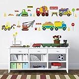 CHUCHEN Cars Kids Room Wall Sticker para la habitación de los niños bebé dormitorio pegatinas de pared cartel 3D coche pegatinas papel pintado
