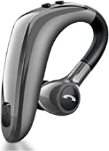 WYANG Bluetooth Headset 5.0, Fast Charging Sweat-Proof Wireless Bluetooth in-Ear Headphones, 180º Rotating Earpiece, Voice Prompts, for Office Workers/Business,Gray