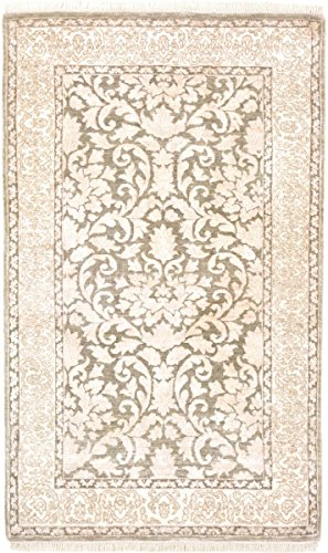 Nain Trading Golestan 157x96Orientteppich Teppich Beige Handgeknüpft IndienDesign Teppich Modern