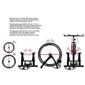 Rodillo Bici. Rodillo para Bicicleta Plegable con Resistencia Variable en el Ciclismo Soporte Rueda Delantera Pincho de Ciclo de liberación rápida Convierte a Bicicleta estática Marfrand
