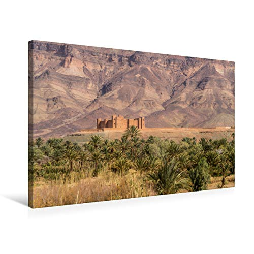 Premium Textil-Leinwand 75 x 50 cm Quer-Format Tinerhir   Wandbild, HD-Bild auf Keilrahmen, Fertigbild auf hochwertigem Vlies, Leinwanddruck von Peter Schickert