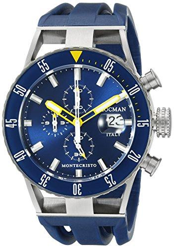 Locman Italia da uomo 051200BYBLNKSIB Montecristo Professional Divers cronografo orologio analogico display automatico a blu