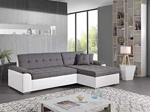 Canapé d'angle 4 places Tissu Contemporain Panoramique