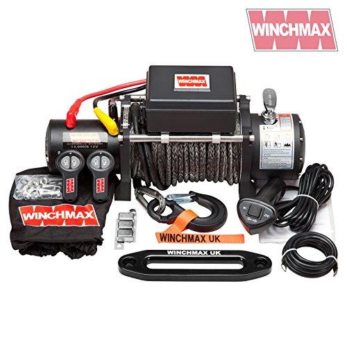 Winchmax Elektrische Seilwinde, Dyneema-Seil, 6,123 kg, Militärqualität, 12 V