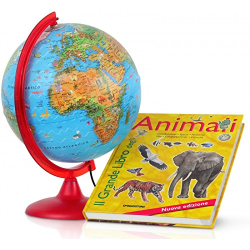 Globo Zoo diámetro 25il grande libro de animales Tecnodidattica
