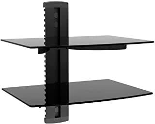 Monoprice 2 Shelf Wall Mount Bracket for TV Components - Black