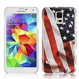 Cadorabo – TPU Hard Cover per Samsung Galaxy S5 / S5 Neo - Case Cover Involucro Bumper Accessorio in Design: Stars And Stripes
