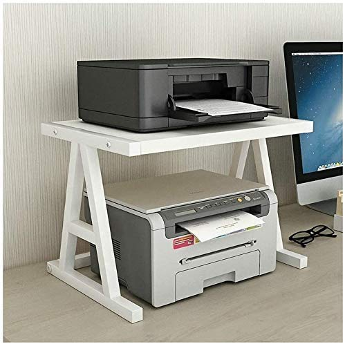 Gaohm Desktop Stand Desktop Printer Stand, Storage Shelf for Space Manager, Bookshelf, Double-Layer Tray Printer Stand for 3D Micro Printer