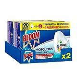 Bloom Eléctrico Líquido - Pack de 2 Aparatos con 4 Recambios Anti Mosquitos