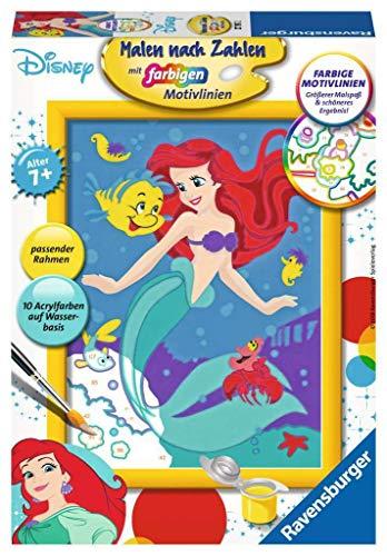 Ravensburger 27787 DPR: Arielle, Die Meerjungfrau 27787-Arielle, Malen nach Zahlen, Format 13 x 18 cm, Multicolor