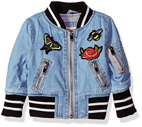 Urban Republic Baby Girls Chambray Bomber Jacket, Light Wash, 18M