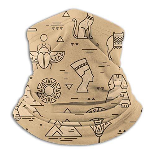 Ägyptische Mythologie Kleid Retro Kamelhals Gamasche Wärmer Winddichte Maske Sport Gesichtsmaske Halbe Sturmhaube Bandana