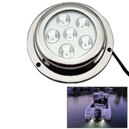 Runguang Outdoor Lights Tuinverlichting, buitenverlichting, scheepsverlichting, bootverlichting, wit, licht, Cree LED van roestvrij staal, 18 W, voor boot, DC 8-28 V