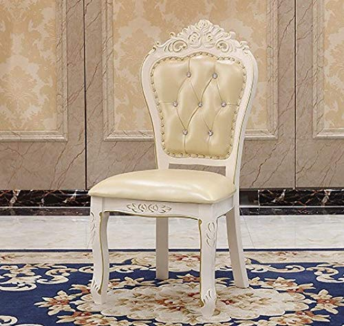 Eettafel LKU Marmeren eettafel modern minimalistisch klein appartement wit rechthoekig massief hout, 4 stuks pu stoel