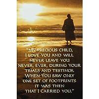 My Precious Child Footprints ゴールデンサンセット 2 x 3 Paper Itty Bitty ブックマーク 24個パック