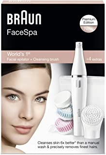 Braun FaceSpa 851 Facial Epilator & Cleanser With 3 Beauty Brushes