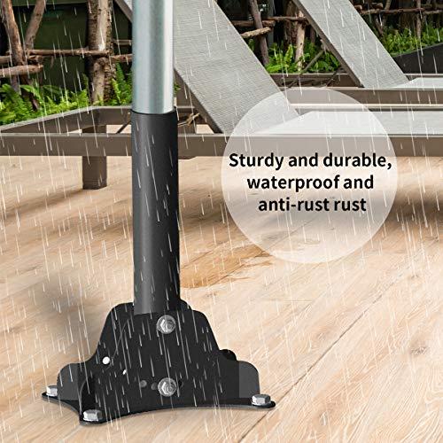 Deck Mount Umbrella Holder, Outdoor Umbrella Base Stand for Decks, Docks, pontoons, patios, Picnic Tables