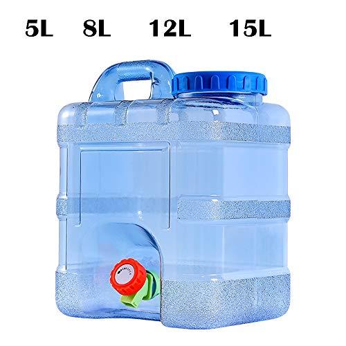 Guoda Wasserkanister  Tragbares   PC-Material In Lebensmittelqualität   Kann Mit Kochendem Wasser   Mit Verlängerungsrohr   Wasserhahn   Blau Gefüllt Werden (Size : 12L)