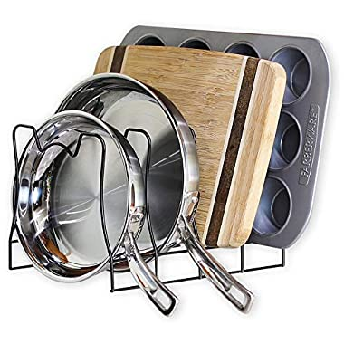 SimpleHouseware Kitchen Pot Lid Rack Holder Organizer, Bronze