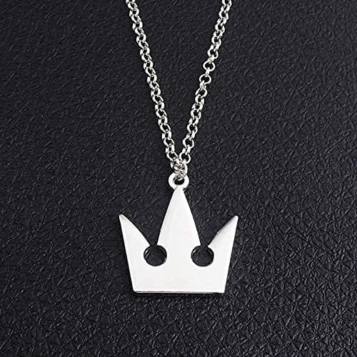 LPQSY Llavero Colgante Llavero Reino Reino Corazones Collar de Corona, Llavero, Colgante de Metal (Color: Collar) (Color : Necklace)