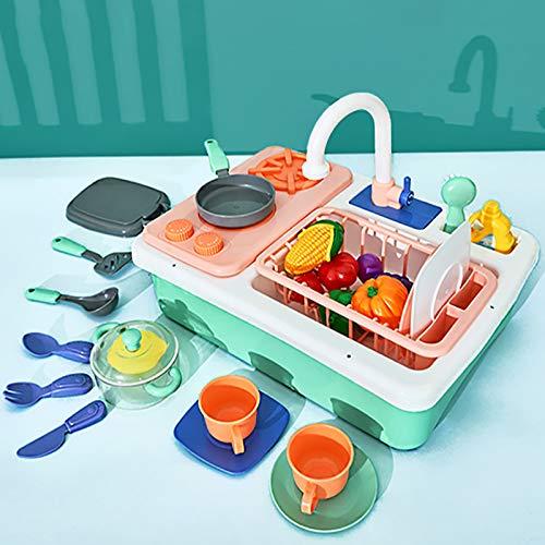 GAOXIAOMEI Cocina Juguete Fregadero Niña Niños-28 Piezas Cocina Infantil con Comida Juguete Accesorios Cocina Juguetes Juego de rol Cocinitas de Juguetes Niños Niñas 3 4 5 6 Años