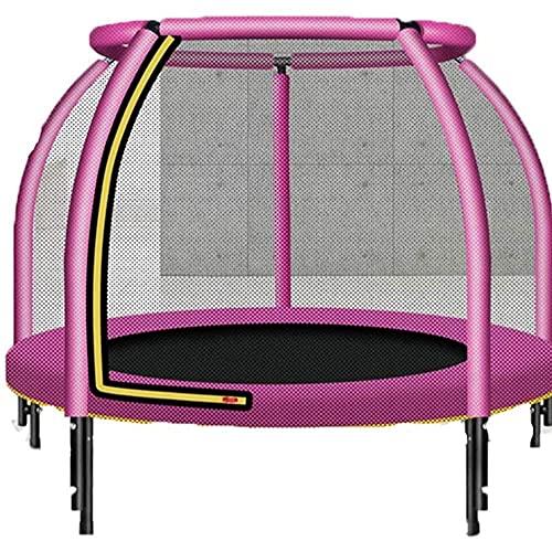 Deportes al aire libre Niños adultos Rebotar Trampoline Niños Trampolín con red de gabinete, Pista de seguridad Total de salto de salto, incluye todos los accesorios, excelente trampolín de patio tras