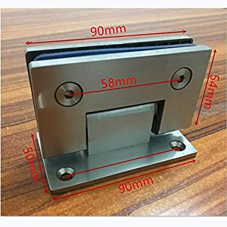 OBELLA BOUTIQUE 90 Degree Open SUS304 Stainless Steel Hinges Wall installation Glass Shower Door hinges For Home Bathroom Furniture hinges