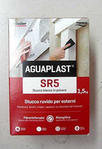 Beissier Aguaplast SR5 - Masilla rugosa blanca en polvo, 1,5 kg, para afeitar, agujeros y grietas