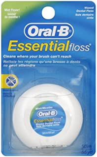Oral B Essential Floss Mint Waxed 50m x 12 Packs by Oral-B