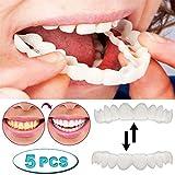MSHK 5 Paar Instant Furniere Zahnersatz, Temporäre Zahn Reparatur Set Kunststoff Thermal Passende Perle Für Schnappen Deckel Fehlende Zähne Prothese Filling Kit