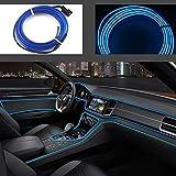 Striscia luminosa a LED flessibile con luci al neon, per auto, cavo elettroluminescente da...
