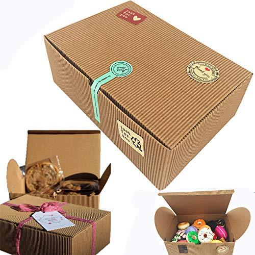 Chilly Treat - Set di 10 scatole per cupcake, biscotti, cioccolato, 37 adesivi inclusi