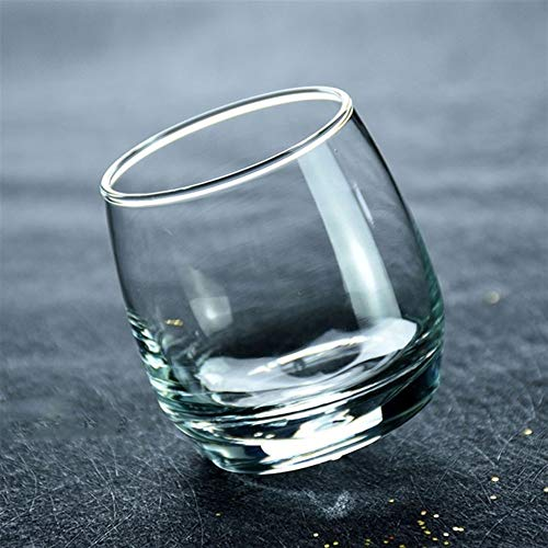 Creative Shake Whisky Rocking Glass Does Not Fall Tumbler Glass Brandy Wine Mug Beer Glasses Drinking Beer Cup (Color : 1 pc)
