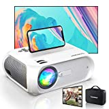 WiFi Mini Projector, HD 1080P and 300'' Display Supported, 150 ANSI Lumen Portable Wireless Movie 4K Projector Home Theater LED HD Projector, Wireless Mirroring for Phone/TV Stick/PS4/DVD/Android