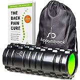 Supportiback Foam roller per la terapia del tessuto profondo, con griglia per massaggi del tessuto profondo, trigger point | Roller per schiena e muscoli, per dolori cronici e recupero muscolare