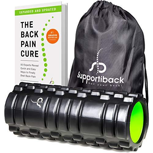 Supportiback Foam Roller Thérapie Tissulaire Profonde Texturé pour Masser les Tissus Profonds et les Trigger Points | Roller pour Dos et Muscles, pour Douleur Chronique et Réparation Musculaire