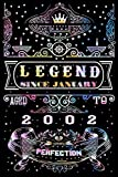 Legend Since January 2002 Notebook-Composition Birthday Gift-Born In 2002 Gifts: Colorful January Birthday Journal Gift-Limited Edition