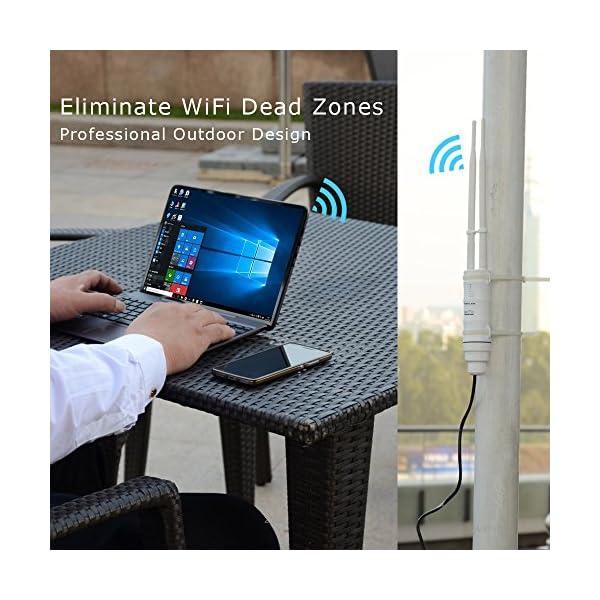 WAVLINK WiFi Range Extender AC600 Dual Band 2.4GHz & 5GHz High Power Wireless Access Point Weatherproof Signal Booster…