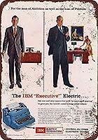 IBMエグゼクティブ電気タイプライターブリキサイン壁の装飾金属ポスターレトロプラーク警告サインオフィスカフェクラブバーの工芸品
