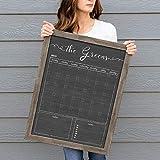 Personalized Dry Erase Framed Calendar, 18x24 or 24x36 Customized Chalkboard Style Calendar