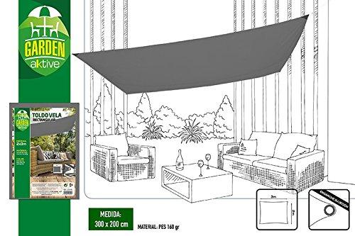 Aktive Garden 53918 - Toldo Vela Jardín Blanco 200 x 300 cm