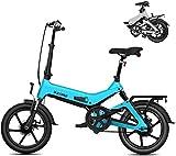 Bicicleta Eléctrica Bicicletas eléctricas Plegables Adultas Confort Bicycles Hybrid Hybrid Recumbent/Road Bikes 16 Pulgadas, batería de Litio 7.8Ah, aleación de Aluminio, Freno de Disco Batería de l