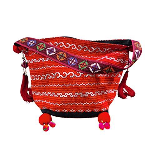 Interact China Bolso Bandolera Para Mujer Saddle Bag Estilo Hippie Bolso Tribal Hmong Miao 100% Bordado A Mano 108