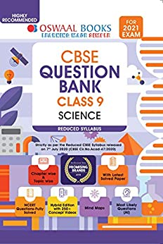 Oswaal CBSE Question Bank Class 9 Science (Reduced Syllabus) (For 2021 Exam) by [Oswaal Editorial Board]