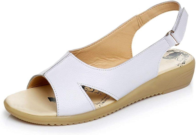 Beautiful - Fashion Women's Casual Low Wedge Sandals Open Peep Toe Comfort Platform Slingback Summer Beach Dress Sandals