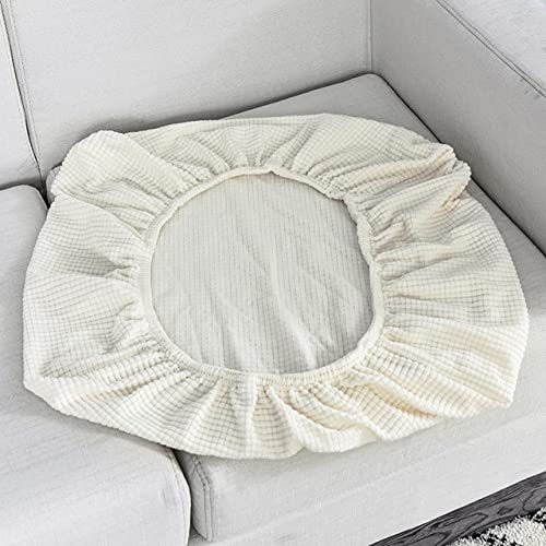 Sofa Sitzkissenbezug Stuhlbezug Haustiere Kindermöbelschutz Polar Fleece Stretch Waschbar Abnehmbarer Schonbezug 1/2/3/4 Sitz, Weiß, Länge 150.190 cm