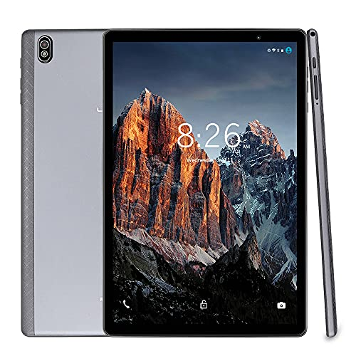 LNMBBS T610 Tablet 10 Zoll, 5G WiFi Tablet PC mit 1.8Ghz Octa-core Prozessor, 1920x1200 FHD IPS, Android 10.0, 64GB ROM, 4GB RAM, Face ID, Bluetooth, GPS Support, Grau
