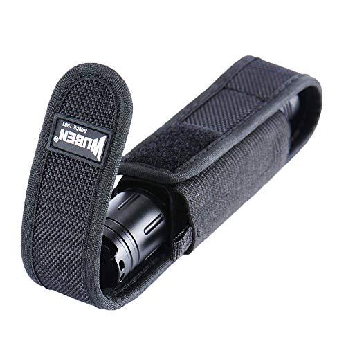 WUBEN Linterna Funda Funda Nylon Cinturón Funda para trabajo pesado Ajustable 6 x1.2 pulgadas mini bolsa de herramientas